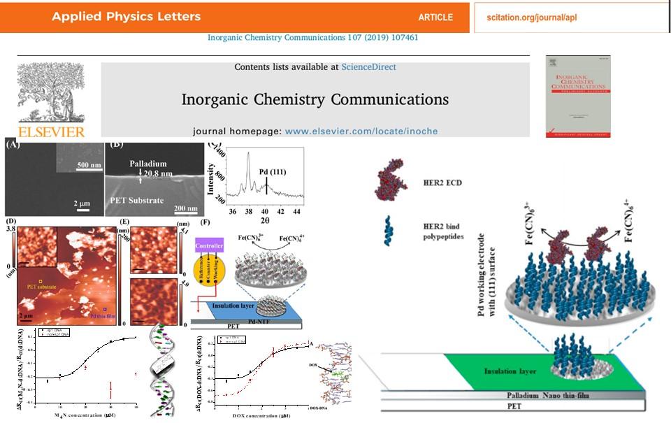 Flexible nano thin film electrode development for biosensing