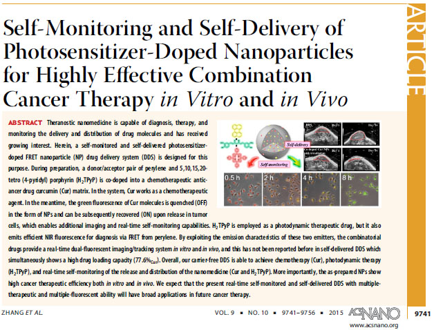 Theranostics nanoparticle development for highly effective combination cancer therapy
